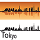 Tokyo Skyline in Orange Background - GraphicRiver Item for Sale