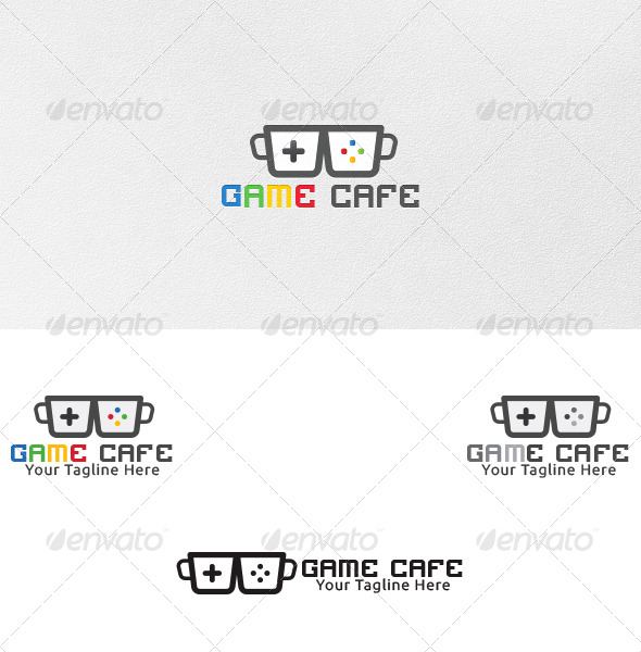 GraphicRiver Game Cafe Logo Template 4730872