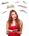 Woman and flying books - PhotoDune Item for Sale