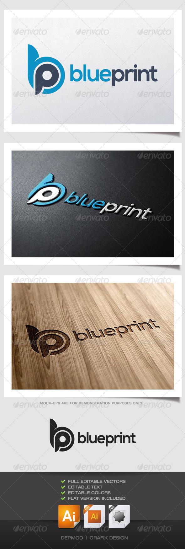 GraphicRiver Blue Print Logo 4731348