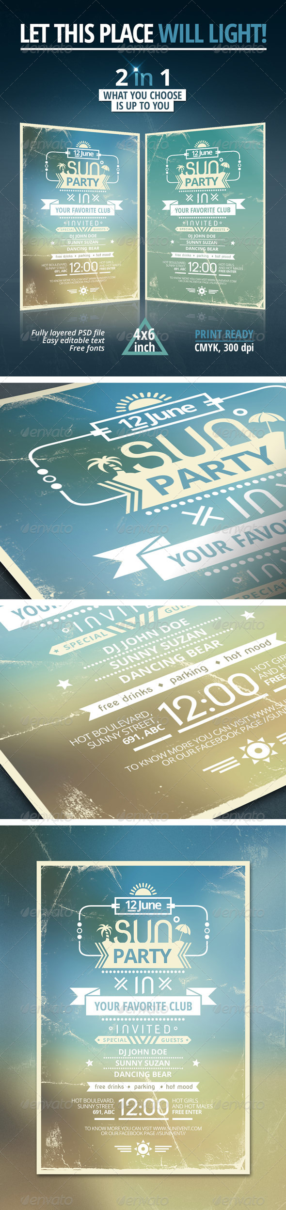 GraphicRiver Sun Party Flyer 4731464