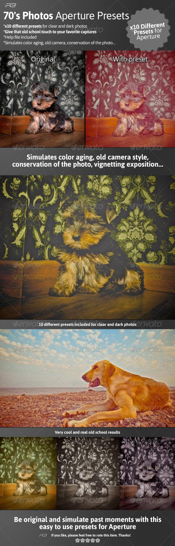 GraphicRiver 70 s Photos Aperture Presets 4731570
