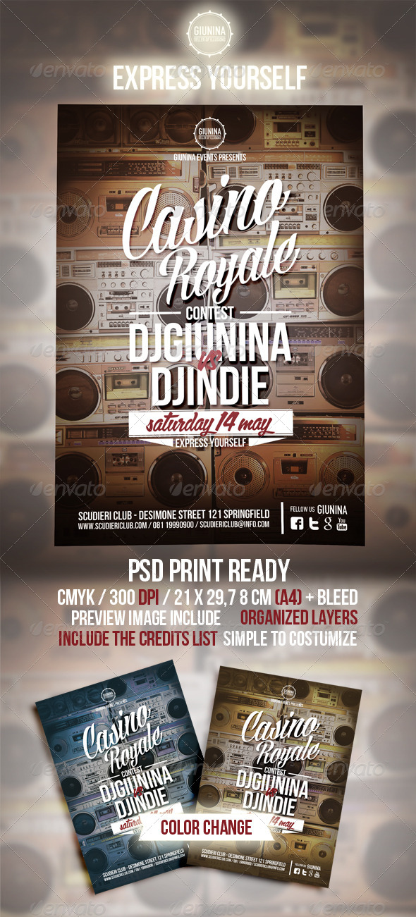 GraphicRiver Casino Royale Event Flyer 4652285