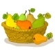 Basket with Fruits, Pears - GraphicRiver Item for Sale