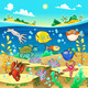 Family of Fish in the Sea.  - GraphicRiver Item for Sale