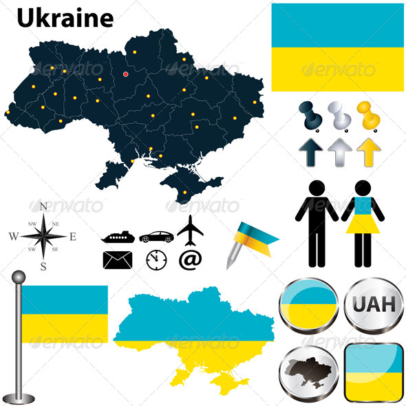 GraphicRiver Map of Ukraine 4732517