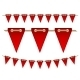 Festive Red Flags on White Background - GraphicRiver Item for Sale