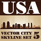 Vector City Skyline USA Set Number 5 - GraphicRiver Item for Sale