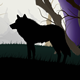 Wild Wolf Silhouette on a Full Moon - GraphicRiver Item for Sale
