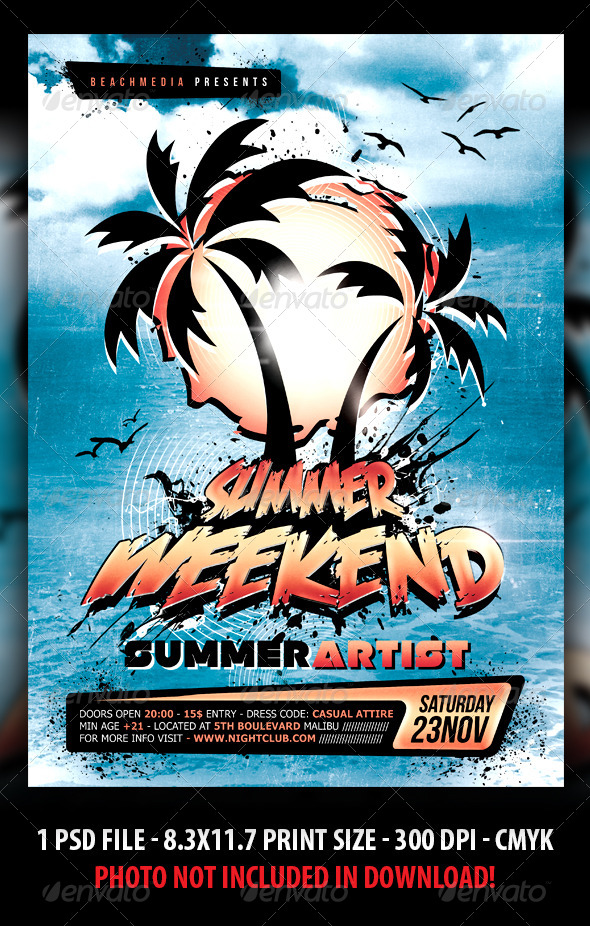 GraphicRiver Summer Party Flyer Poster 4732590