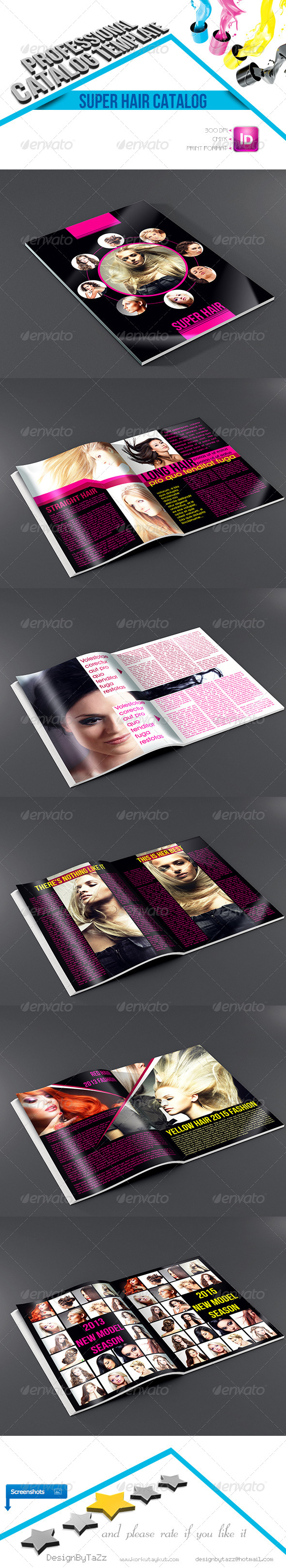 GraphicRiver Super Hair Catalog Template 4653503