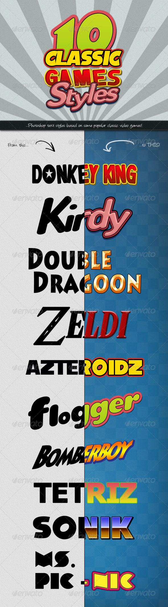 GraphicRiver Photoshop Text Styles Classic Games 4720300