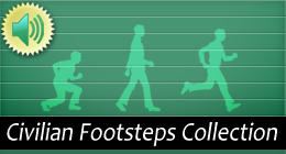 Civilian Footsteps Crouches, Walks, Runs