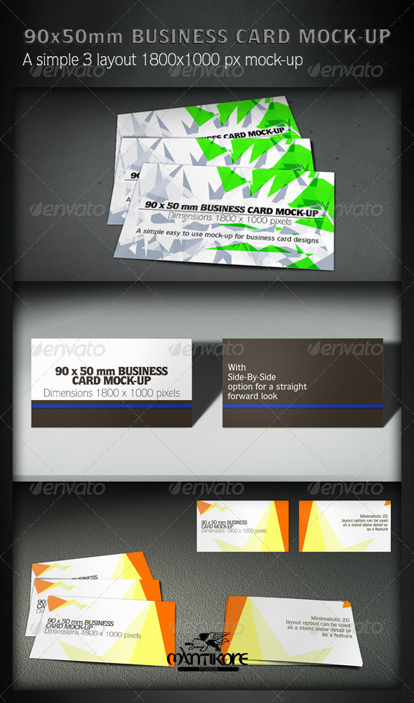 GraphicRiver 90x55mm Business Card Mock-Up 4733168