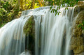 Deep forest waterfall at Erawan waterfall National Park Kanjanaburi Thailand - PhotoDune Item for Sale