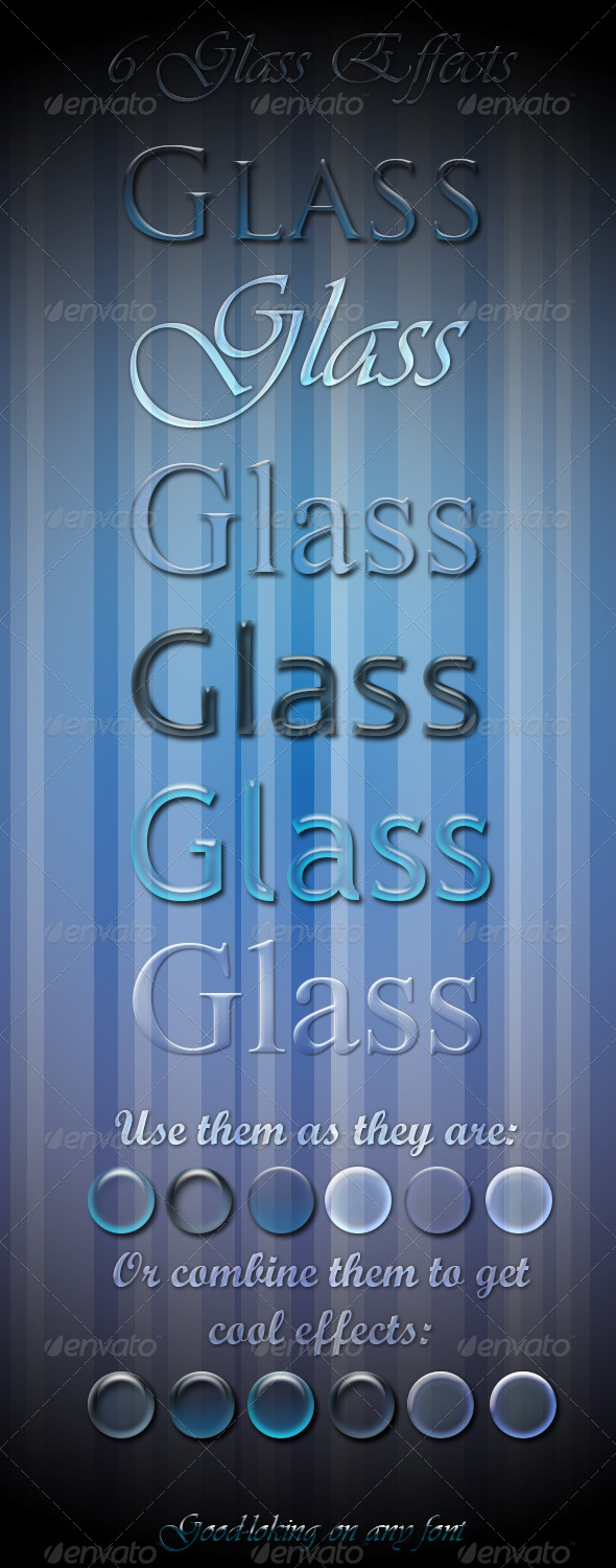 GraphicRiver 6 Glass Effects 4717557