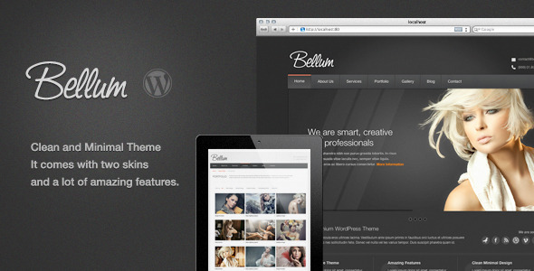 Bellum WordPress Theme - Portfolio Creative