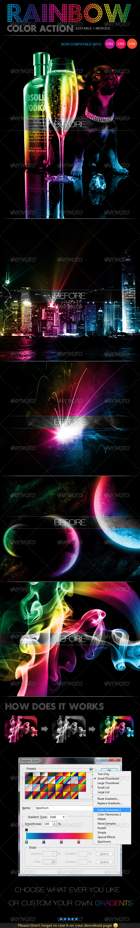 Rainbow Color Action - Photo Effects Actions