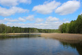 landscape with picturesque lake in the forest - PhotoDune Item for Sale