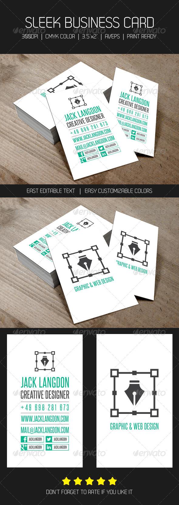 GraphicRiver Sleek & Creative Business Card 4735010