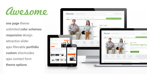 Awesome - One Page WordPress Theme - Business Corporate