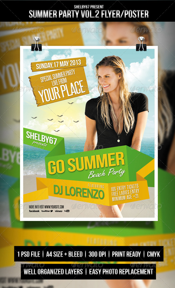 Summer Party Flyer / Poster Vol.2 - Events Flyers