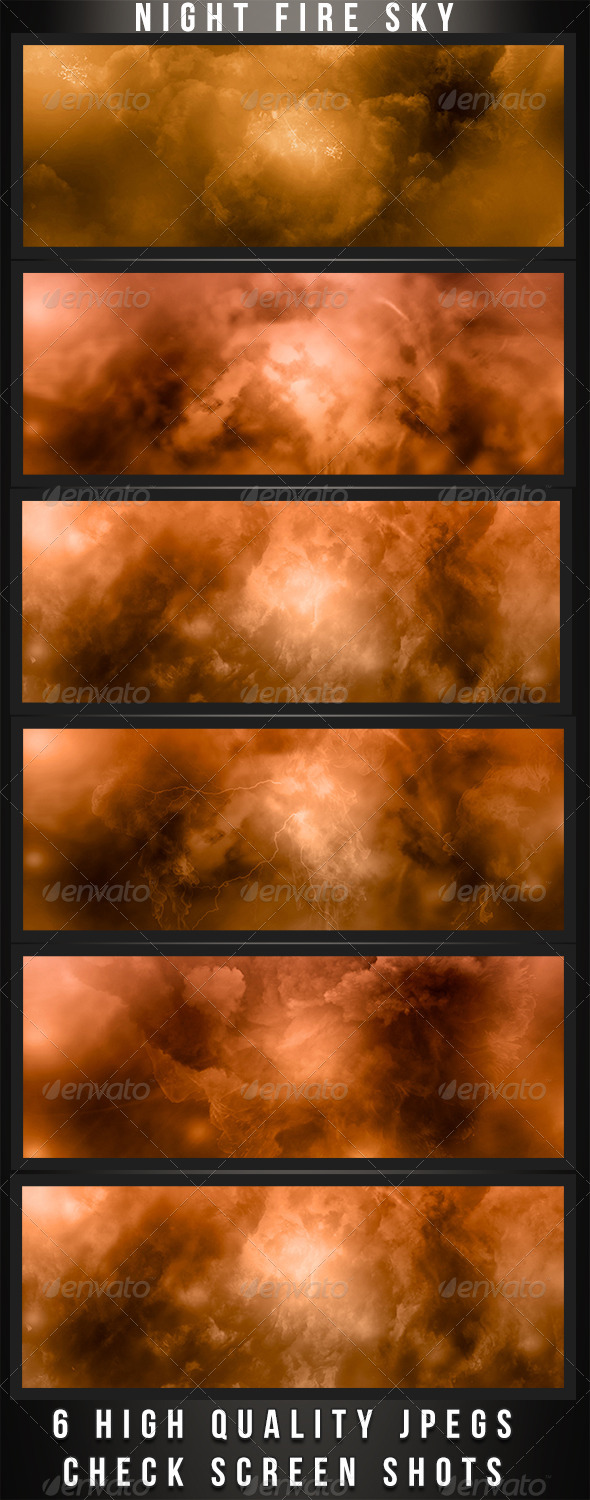 GraphicRiver Fire Night Backgrounds 4735904