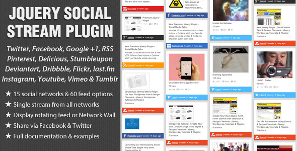 jQuery Social Stream - CodeCanyon Item for Sale