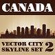 Vector City Skyline Canada Set Number 2 - GraphicRiver Item for Sale
