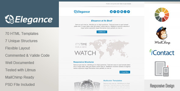 ThemeForest Elegance Responsive Email Template 4736330