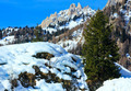 Beautiful winter rocky mountain landscape. - PhotoDune Item for Sale