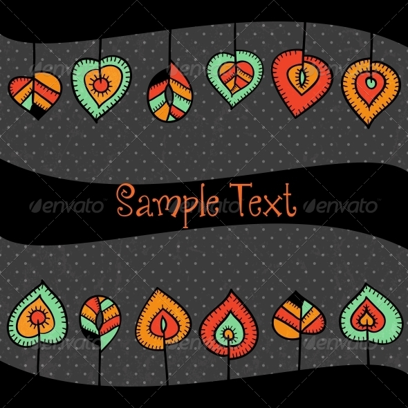 GraphicRiver Stylized Leaves Border 4737745