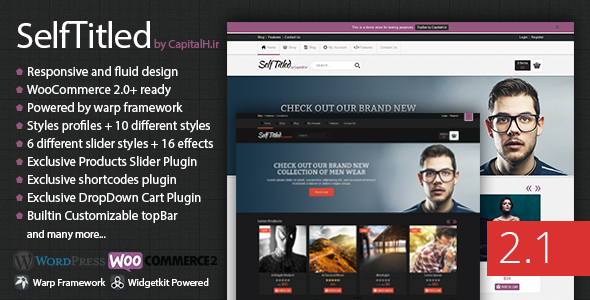 SelfTitled - Responsive eCommerce WordPress Theme