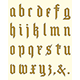 Gothic Alphabet - GraphicRiver Item for Sale