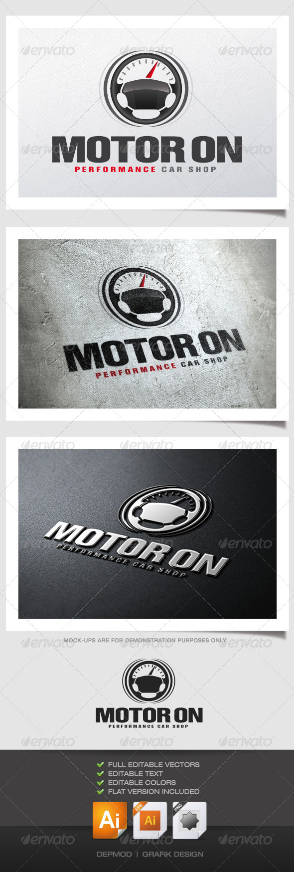 GraphicRiver Motor on Logo 4738522