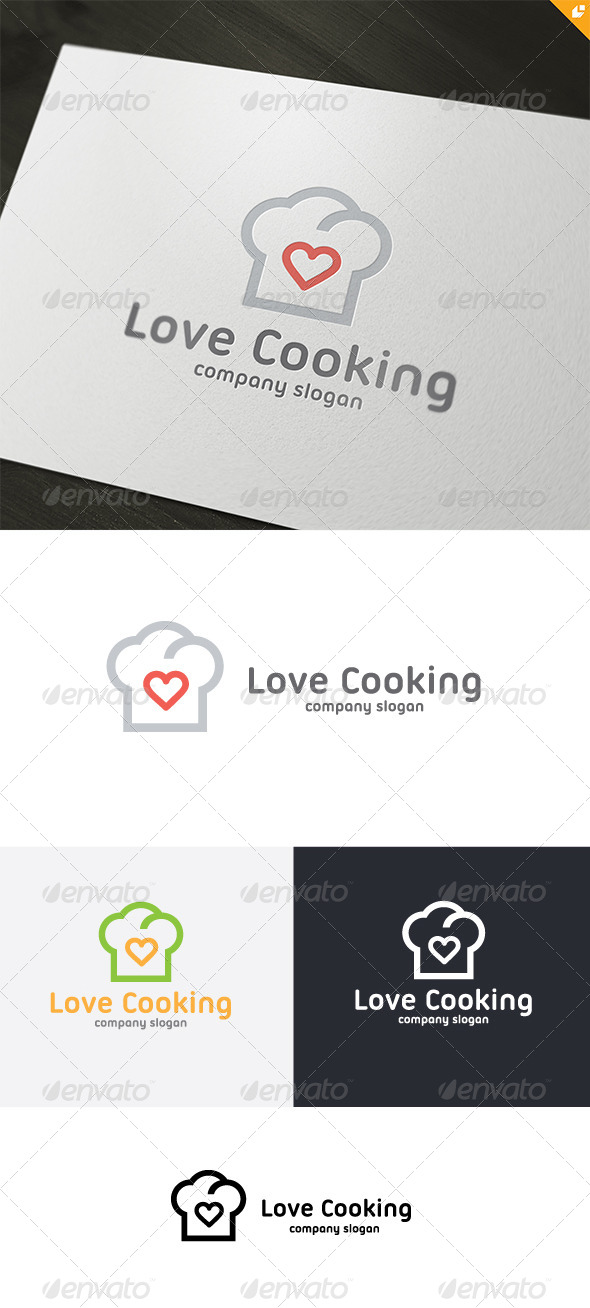 GraphicRiver Love Cooking Logo 4738661