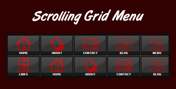 Scrolling Grid Menu - ActiveDen Item for Sale