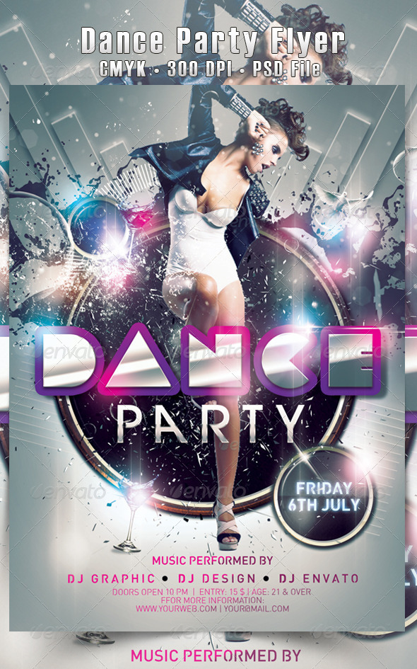 Dance Party Flyer - Flyers Print Templates