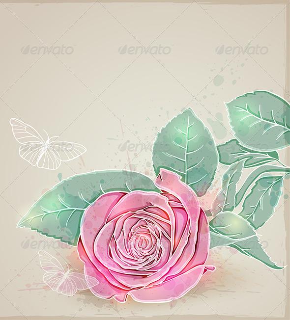 GraphicRiver Pink Rose 4739727