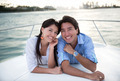 Happy couple in a yacht - PhotoDune Item for Sale