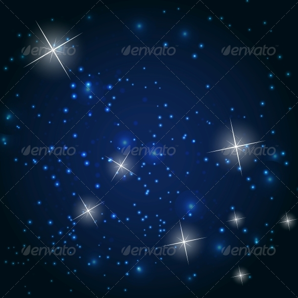 GraphicRiver Star Sky Vector Background Illustration 4741049