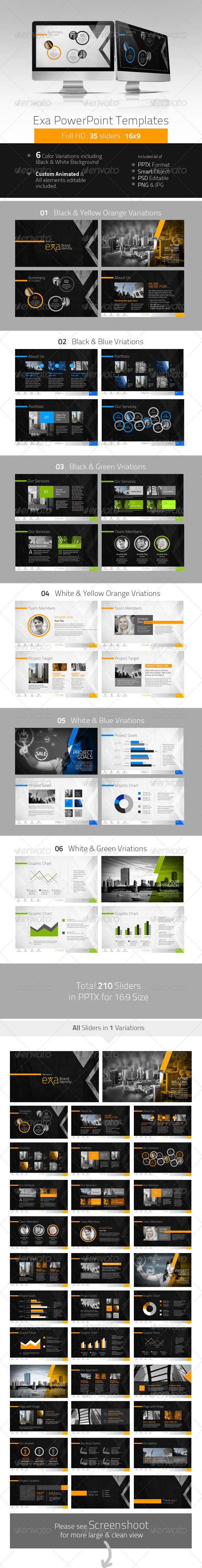 GraphicRiver Exa Creative PowerPoint Presentation 4741238