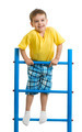 Happy kid boy on top of gymnastics ladder - PhotoDune Item for Sale