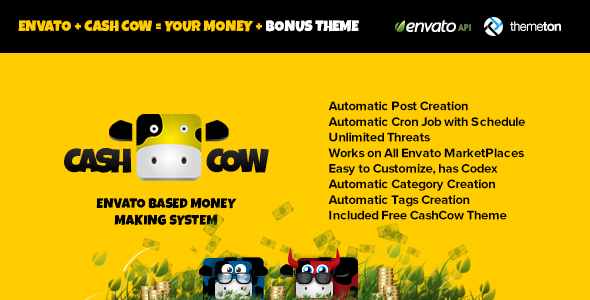CodeCanyon CashCow Affiliate Based Money Making System 4723003