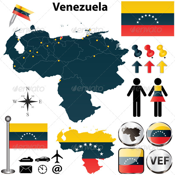 GraphicRiver Map of Venezuela 4741985