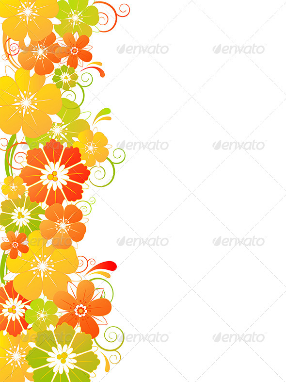 GraphicRiver Background with Flowers 4742007