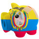 closed piggy rich bank with bandage in colors national flag of e - PhotoDune Item for Sale