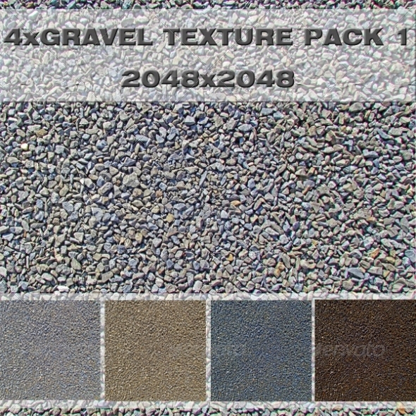 Gravel Pack 3DOcean -  Ground  Pebbles 411005