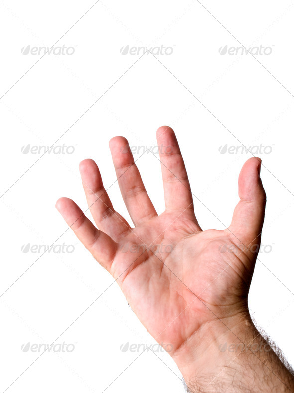 Caucasian hand - Stock Photo - Images