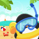 Penguin with Snorkel - GraphicRiver Item for Sale